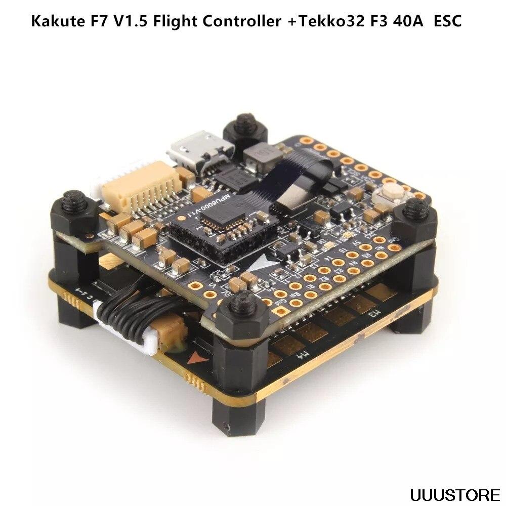 Holybro Kakute F7 V1.5 Flight Controller +Tekko32 F3 40A 4 In 1 Blheli 32 3-6S Brushless ESC For RC Drone