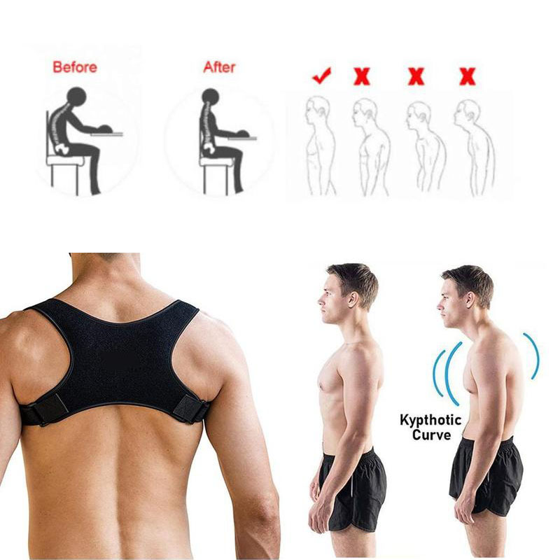 High Quality Spine Posture Corrector Protection Back Shoulder Posture Correction Band <font><b>Humpback</b></font> Back Pain Relief Corrector Brace image