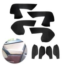 For VW Tiguan 2008 2009 2010 2011 2012 4pcs Interior Door Handle Panel Armrest Microfiber Leather Cover Decor