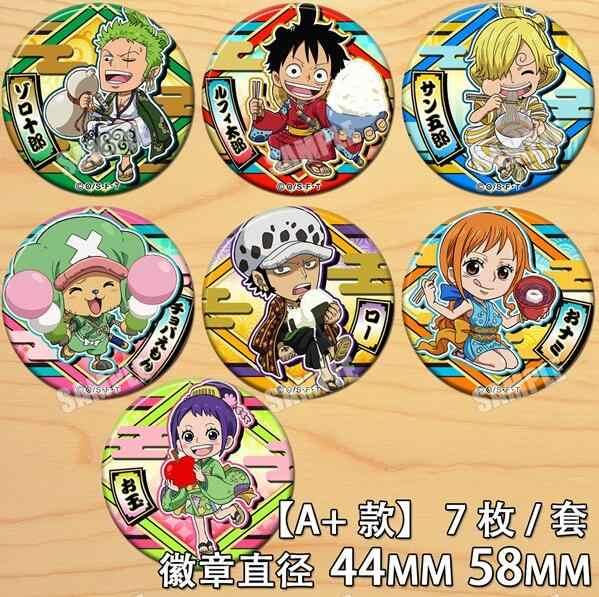 Anime One Piece Chopper One Piece Monkey D. Luffy Nami Gambar 4623 Lencana Bulat Bros Pin Hadiah Anak-anak Koleksi Mainan