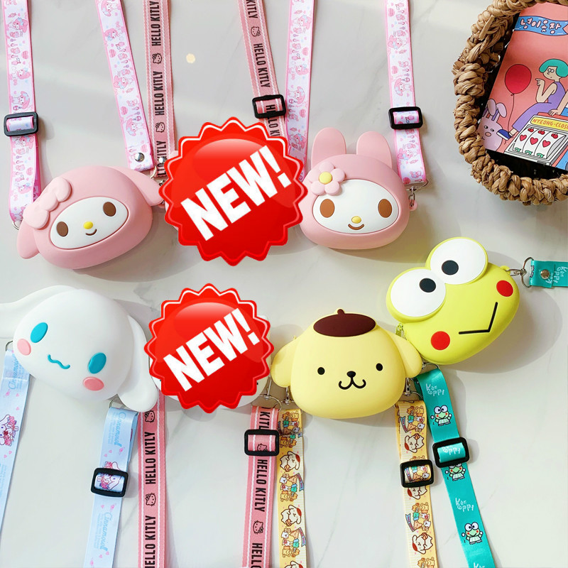 Hot On Sale Kawaii New Coin Purse Fresh Mini Change Money Bag Creative Cartoon Key Case Ladies Key Wallets Silicone Wrist Bag