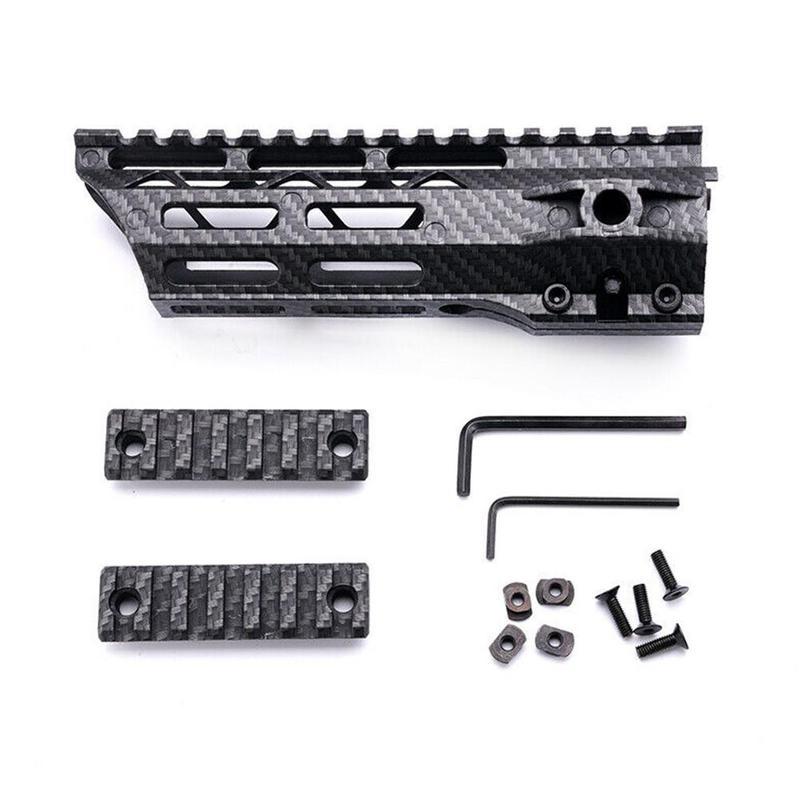 Vecteur optique Fiber de carbone 7 pouces MLOK mince polymère. 223 5.56 AR-15 Flottant Garde M-LOK AR15 M4 Blacket Rail Picatinny