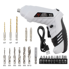 Rechargeable Drill Electrical-Screwdriver Mini Wireless with Led-Light Usb-Charging