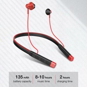 Image 4 - EARDECO skórzane słuchawki z pałąkiem na kark słuchawki Bluetooth słuchawki Stereo ciężki bas słuchawki bezprzewodowe Hifi wodoodporne słuchawki z Bluetooth