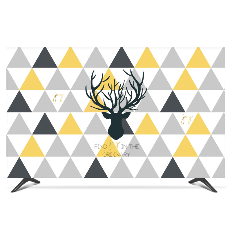 """19""""   80"""" 22 inch 75 inch Screen LCD TV PC Cover Decorative Hood Curtain Reindeer Plaid Leaves Geometry Waterproof Blue White