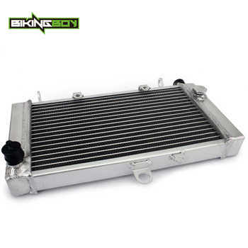 BIKINGBOY Engine Radiator Water Cooling Cooler For Honda CBF500 04 05 06 07 08 CBF 500 ABS 2004-2008 Motorcycle Polished