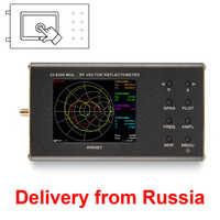 Analizador de red portátil VNA SWR, reflectómetro arest de 23-6200 MHz con pantalla táctil, nuevo