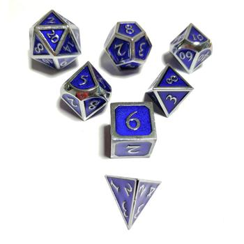 Board Games Dice Metal Multi-faceted Multicolor Game Dice Shaped Chrome Enamel Dice Fun Game solid polished brass dice 20mm metal cube copper poker bar board game gift 1pc