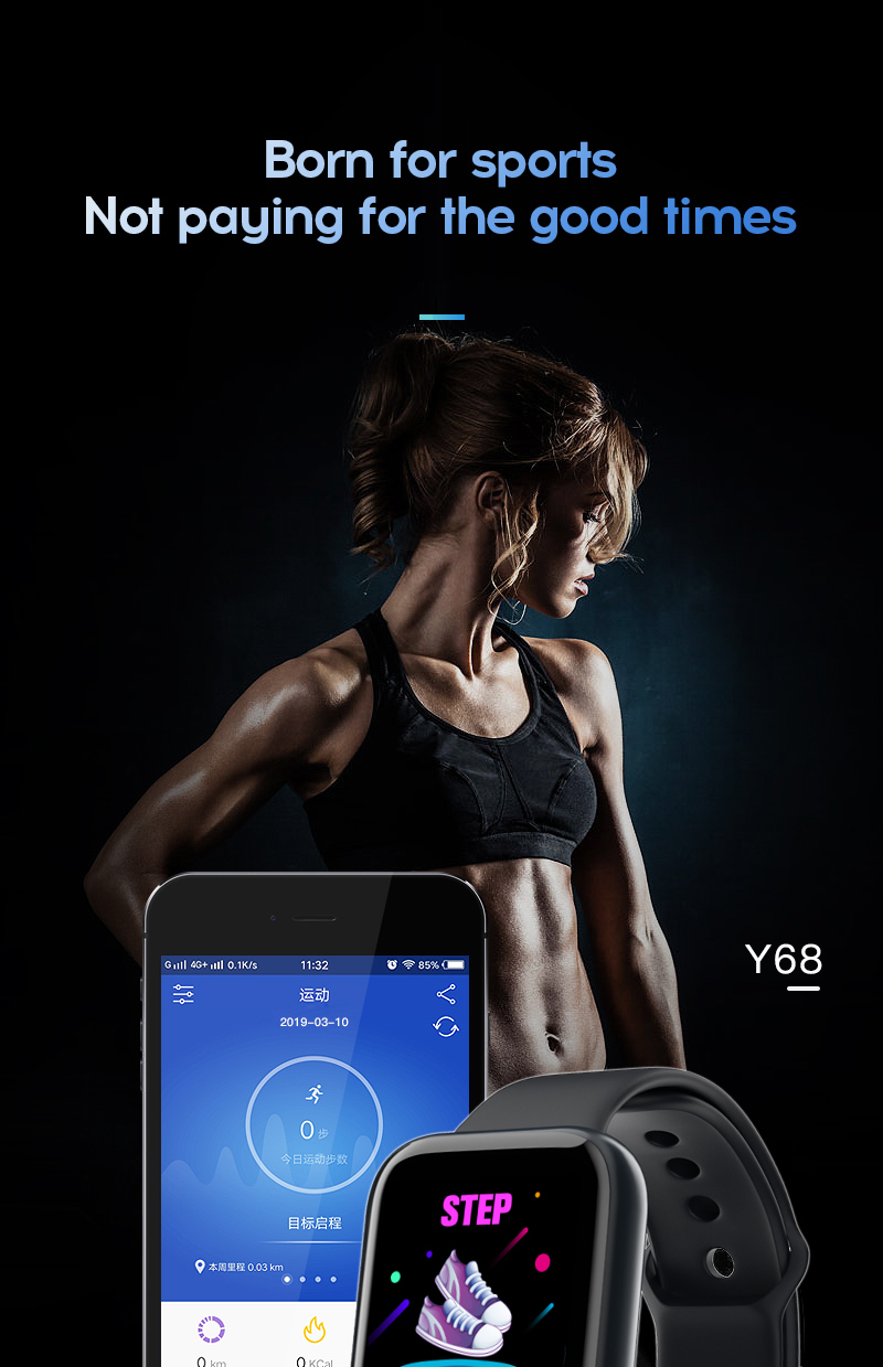 H8e4f4fec3f0f4991b175b15618f8a695M Smart Watch Blood Pressure Smartwatch Tracker Heart Rate Fitness