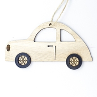 1pcs wooden car