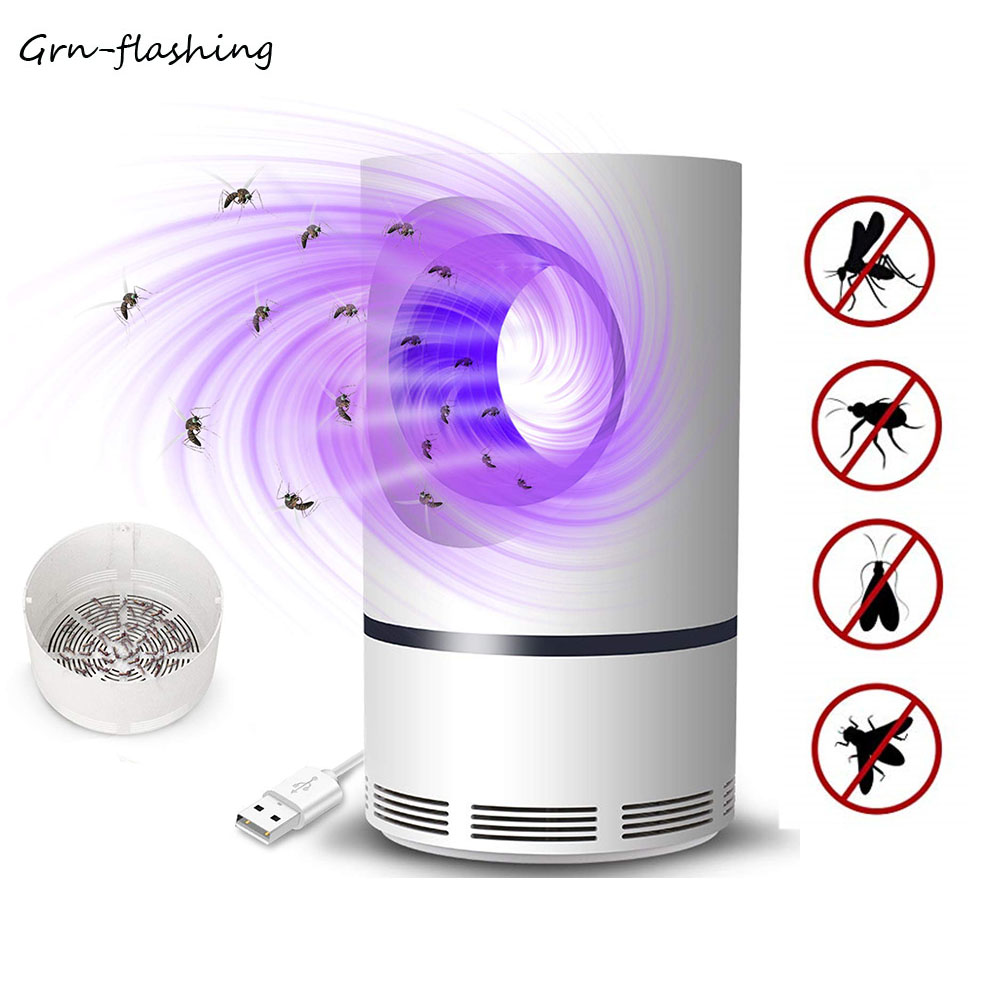 Electronic Mosquito Killer Lamp USB Power UV Mosquito Trap Light LED Pest Catcher Trap Comfortable Mute For Bedroom Outdoor