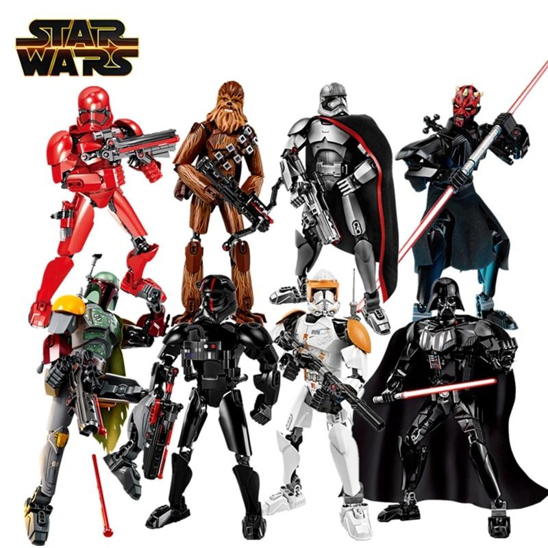 Disney Star Wars Buildable Angka Darth Vader Stormtrooper Kylo Ren Sith Polisi Boba Fett Action Figure Model Mainan Anak Hadiah Aksi Figur Aliexpress