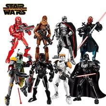 Disney Star Wars imara rakamlar Darth Vader Stormtrooper Kylo Ren Sith Trooper Boba Fett eylem şekilli kalıp oyuncak çocuk hediyeler