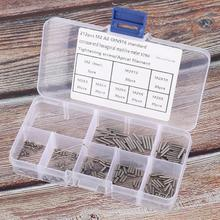 212Pcs/Lot Set Screws M2 Inner Hex Stainless Self Tapping Fasteners