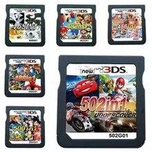 Xinco Racing Album 502 gry w 1 NDS gra pakiet karty Super Combo kaseta dla Nintendo NDS DS 2DS nowy 3DS