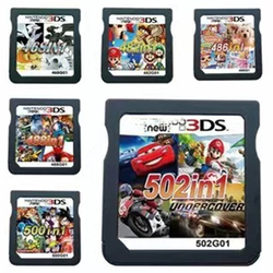 Xinco Racing Album 502 Games in 1 NDS Game Pack Card Super Combo Cartridge for Nintendo NDS DS 2DS New 3DS