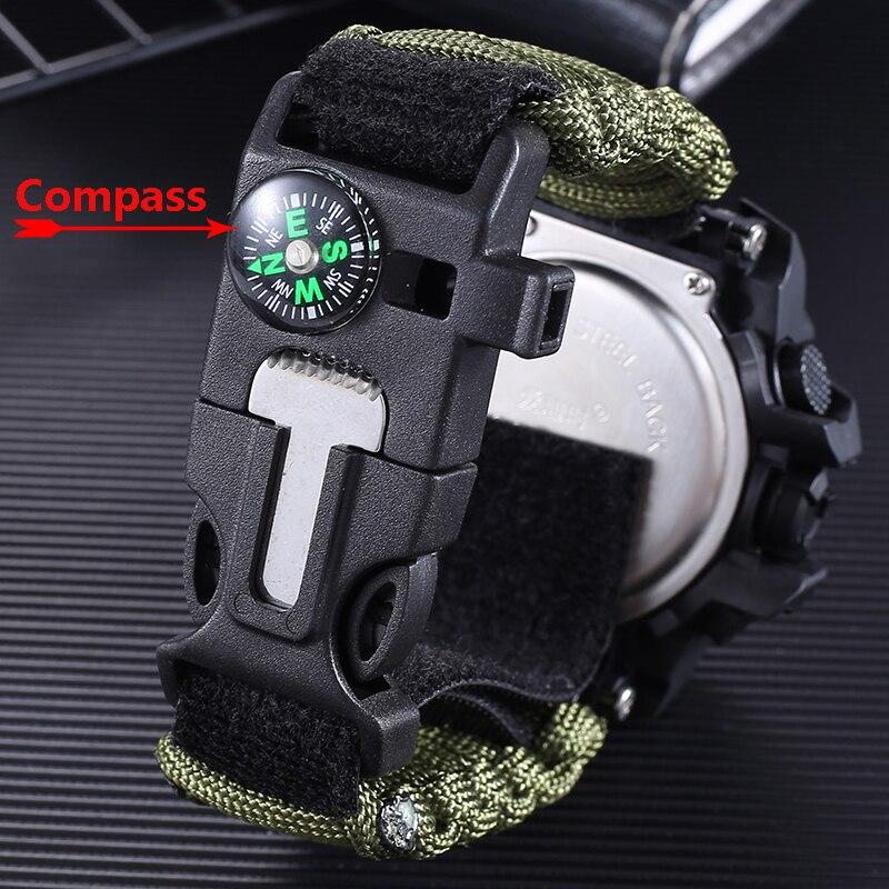 Купить военные часы addies мужские с компасом свистком скребок водонепроницаемые