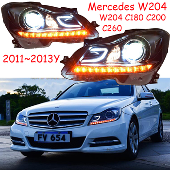 2011~2013 car bupmer head light for Mercedes Benz W204 headlight C180 C260 C200 car accessories led HID fog  Benz W204 headlamp