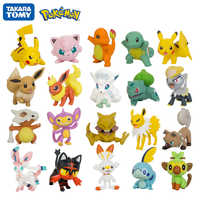 Tomy-figuras de Pokémon, modelos de juguetes de 3-9cm de colección de mascotas, Pikachu Squirtle Bulbasaur Charmander Vulpix Eevee Abra Litten