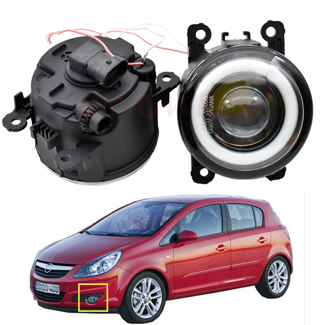 1pair Car Fog Light Angel eye Daytime Running Light 12V For Opel Corsa D Hatchback 2007 2008 2009 2010 2011 2012 2013 2014 2015