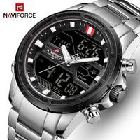NAVIFORCE Uhren für Männer Luxus Marke Sport Quarz Armbanduhr Wasserdicht Military Digitale Männliche Uhr Stahl Relogio Masculino