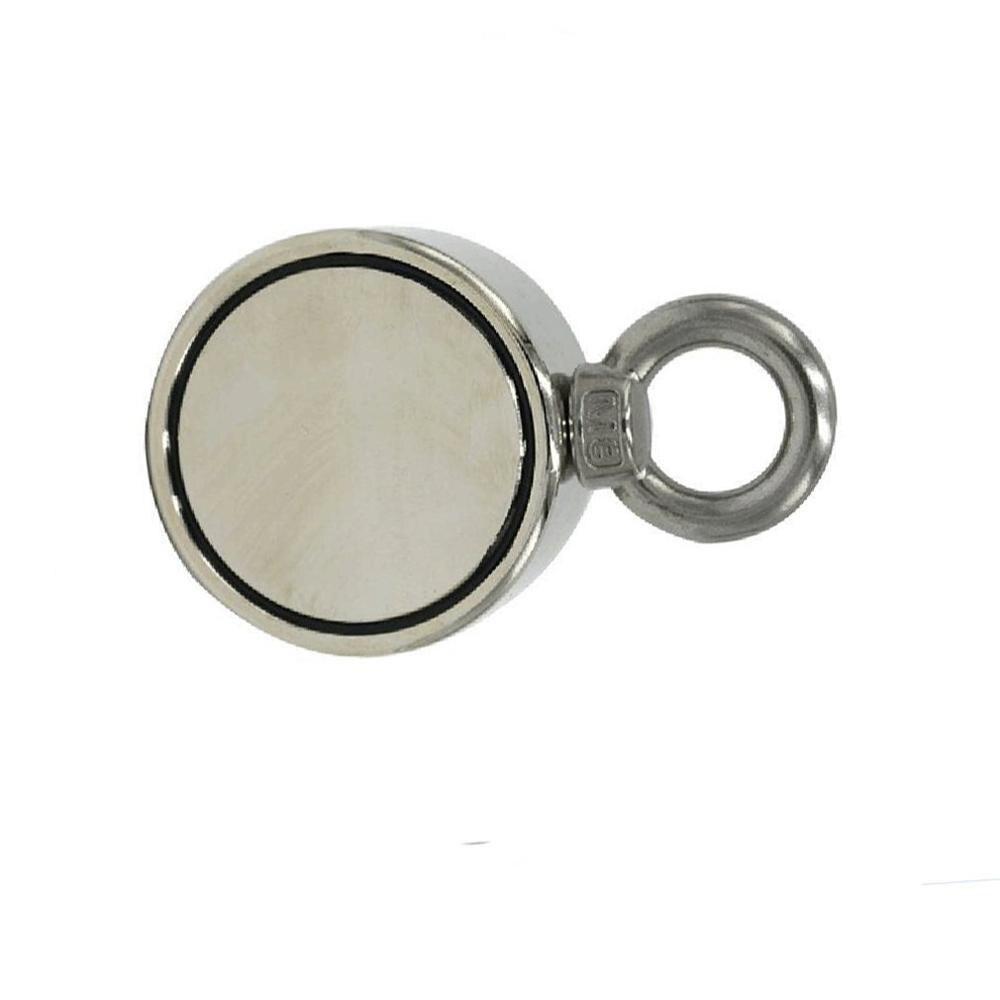 300KG 60mm taille compacte Super forte Double face utilisation Durable métal aimant détecteur Force néodyme récupération