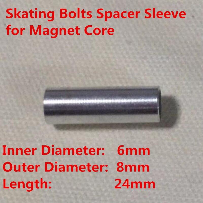 6mm diâmetro interno 8mm diâmetro externo roda de patinação parafuso manga espaçador 608 688 rolamento ímã núcleo led flash patins rodas|Peças e acessórios p/ scooter|   -