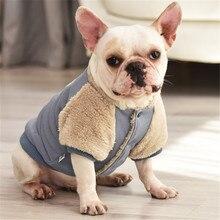 Pug Dog Pomeranian Clothing Jacket Coat Bulldog-Clothes Pet Outfit Warm French Garment