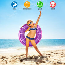 60# Inflatable Kids/Adult Swimming Ring Summer Beach Fruit Swimming Pool Toys Water Hammock Recliner Inflatable Floating bed(China)