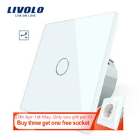 Livolo EU Standard Wall Switch 2 Way Control Touch Screen Switch   Crystal Glass Panel  220 250V VL C701S 1/2/3/5 Switches Lights & Lighting -