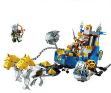 246pcs Children's Building Blocks Toy Compatible Legoingly City Future Knights Castle Glory Battle Kings Chariot Figures Bricks цена