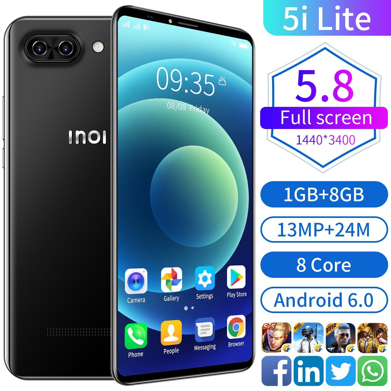 Российский смартфон Rugum Inoi 5i Lite Оперативная память 2 ГБ + Встроенная память 16 Гб Смартфон Android 8,1 3G WCDMA разблокированный мобильный телефон с дв...