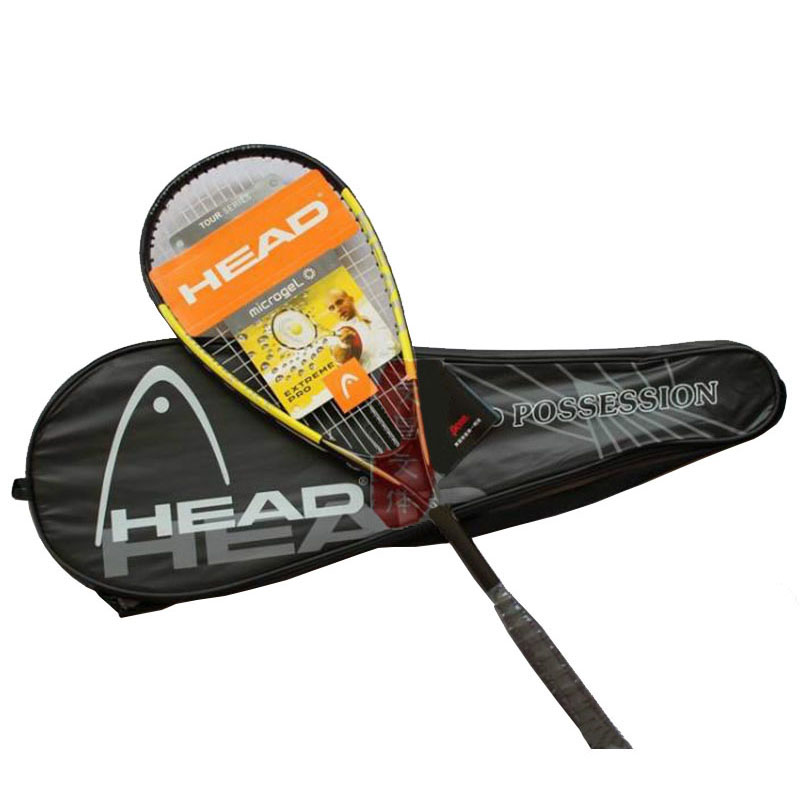 Best Price HEAD Squash Racket Light Carbon Material With Squash Rackets Bag Speed Ball Rackets Sports Training Racquets