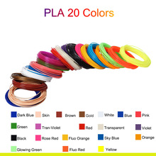 5M 20 Colors 3D Pen Filament PLA 1.75mm Plastic Rubber Printing Filaments for Printer SP99