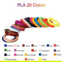 5M 20 Colors 3D Pen Filament PLA 1.75mm Plastic Rubber Printing Filaments for Printer SP99