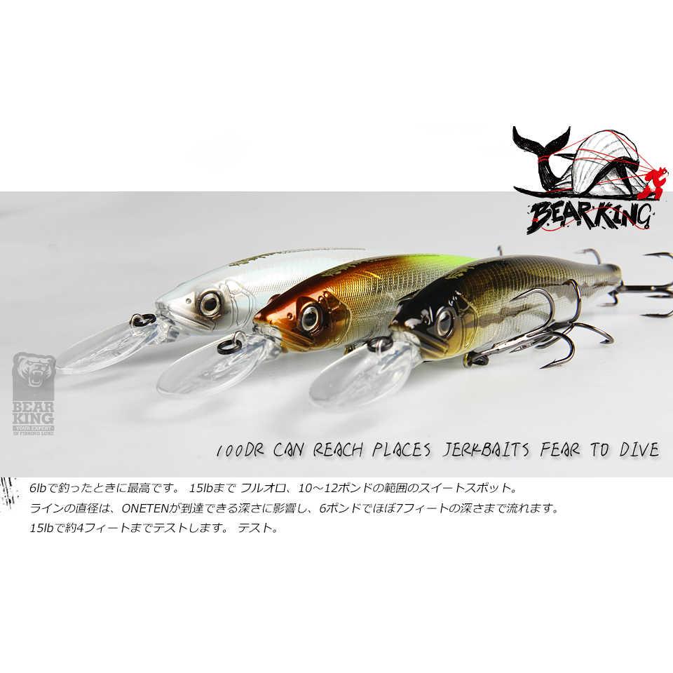 BEARKING 128mm 22,9g depth2 - 3m Wobbler Top angeln lockt harten köder minnow qualität haken Angeln zubehör für angelgerät