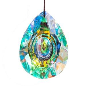 Image 4 - H&D Hanging Crystals Prism Suncatcher For Windows Decoration 89mm AB Chandelier Parts DIY Home Wedding Decor Accessories Craft