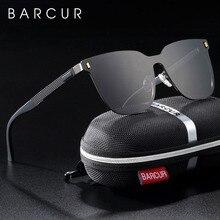 BARCUR Polarized Square Sunglasses Men TR90 Temples Women Su