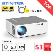BYINTEK-Projektor K20 1920 #215 1080 p Full HD 4K 3D Android Wi-Fi LED laserowy do kina domowego smatrfona tanie tanio Instrukcja Korekta Projektor cyfrowy 16 09 CN (pochodzenie) 150W Brak 500 ANSI lumens System multimedialny 1920x1080 dpi