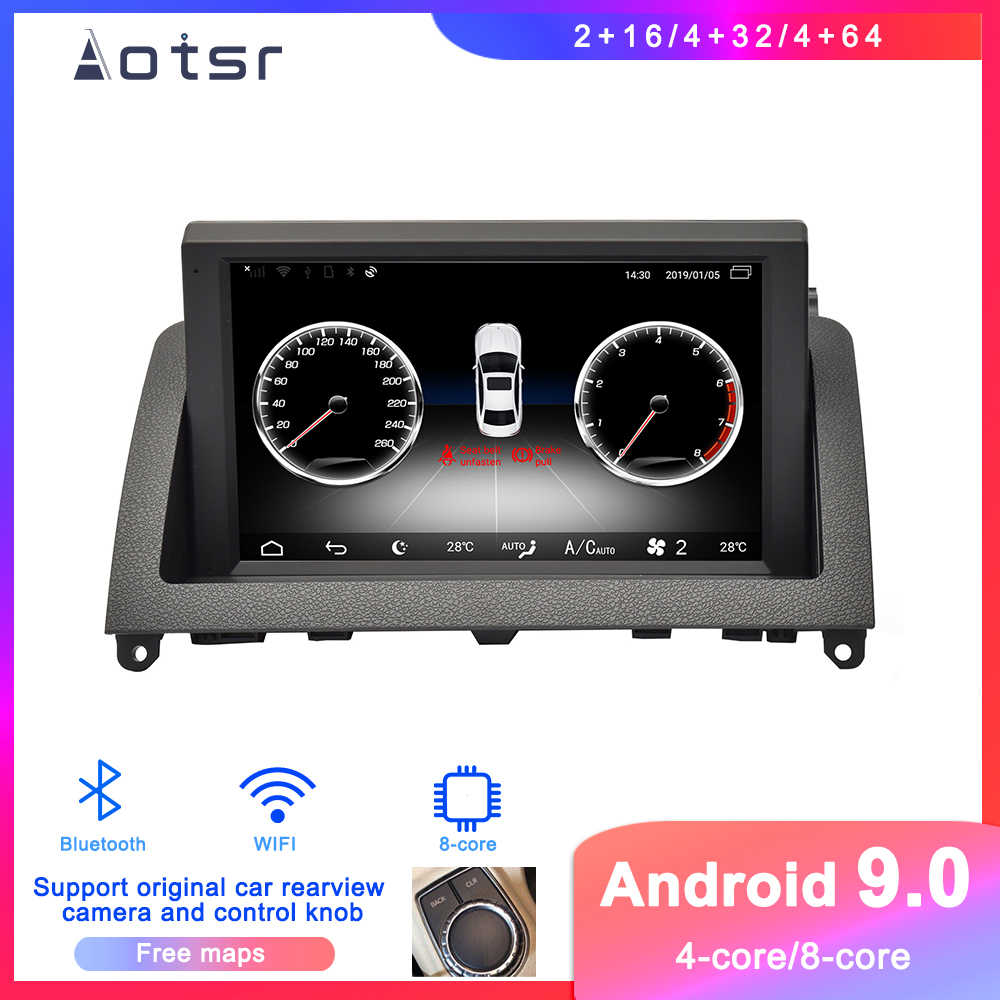 Android 9 Auto DVD player GPS Navigation Für Mecerdes Benz C-W204 2007-2011 Auto Radio stereo-player multimedia bildschirm kopf einheit