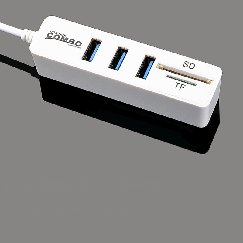 Image 4 - New USB 2.0HUB Hub with SD TF All in One Card Reader 3+2 Combo  Multi function Card Reader-in Card Readers from Computer & Office