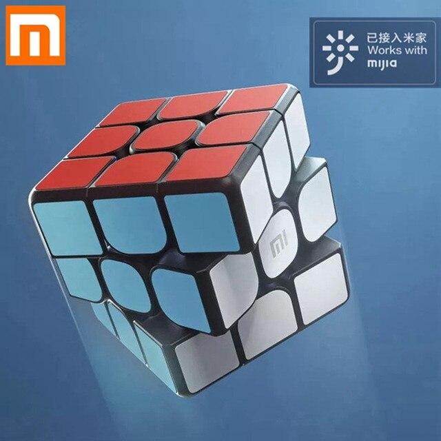 원래 xiaomi 블루투스 스마트 매직 큐브 스마트 게이트웨이 mijia app 링키지 3x3x3 스마트 큐브 퍼즐 장난감 선물 과학 교육