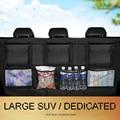Автомобильный органайзер для багажника  Автомобильный задний сумка для хранения на спинку сиденья  сетчатый  вместительный  подвесной  для ...