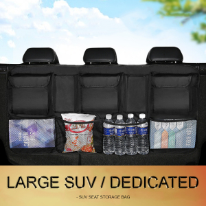 Image 1 - Car Trunk Organizer Car Rear Seat Back Storage Bag Net High Capacity Hanging Tidying Interior Pouch Auto Accessories Supplies
