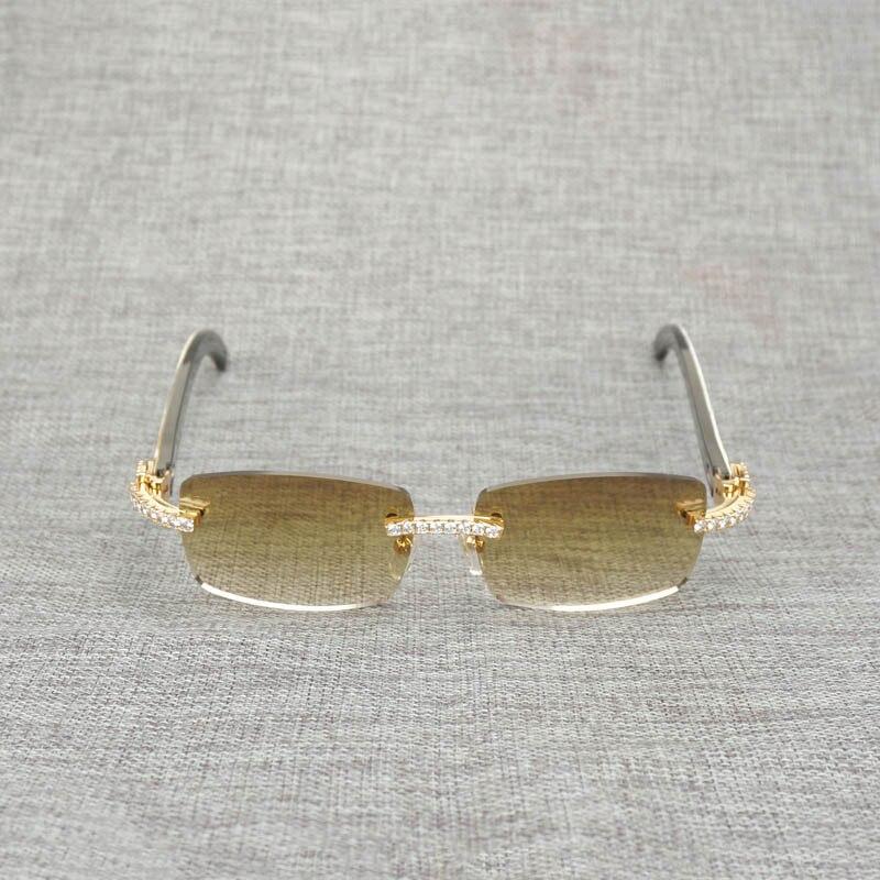 Новые фирменные дизайнерские мужские Квадратные Солнцезащитные очки негабаритных солнцезащитных очков прозрачные металлические золотые ... - 2