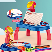 Children Led Projector Art Drawing Table Toys Painting Board Desk Arts Crafts Educational Learning Paint Tools Toy for Kid Study