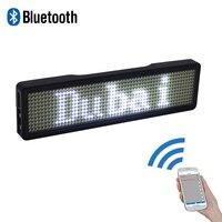 Bluetooth цифровой светодиодный значок DIY Программируемый Прокрутка сообщения Мини светодиодный дисплей для вечеринки события Прозрачный 11*55 п...