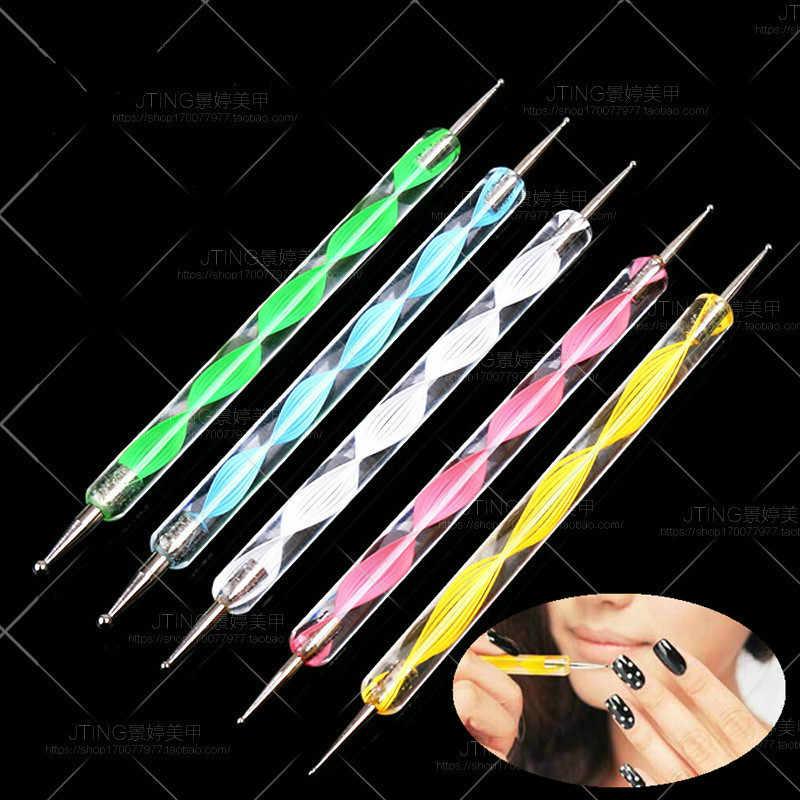 1 adet moda DIY nokta çiçek kalem tırnak çıkartmalar renkli çiçek su çıkartmaları Nail Art süslemeleri sarar gevreği kaydırıcılar manikür