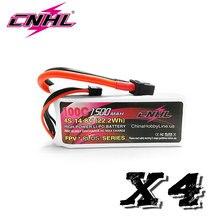 4PCS CNHL G+PLUS 1500mAh 4S 14.8V 100C Lipo Battery