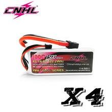 4 pces cnhl g + plus li-po 1500mah 14.8v 4S 100c (max 200c) lipo bateria com xt60 plug para rc barco heli avião uav drone